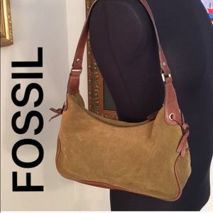 ⭐️FOSSIL SUEDE SHOULDER BAG 💯AUTHENTIC